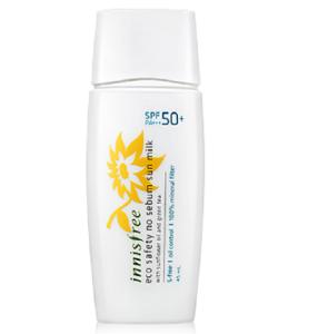 Innisfree eco safety no sebum sun milk spf 50+/ pa+++