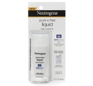 Neutrogena pure & free liquid daily sunblock spf 50